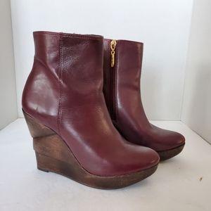 Diana Von Furstenburg Wedge Stacked Heel Boot 7